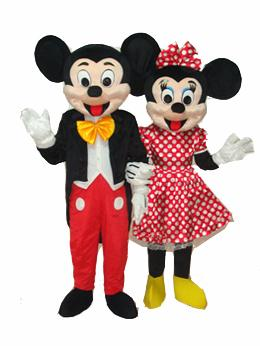 mickey mouse and minnie mouse cartoon mascot costume